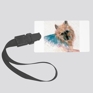 Australian Terrier face Large Luggage Tag