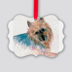 Australian Terrier face Picture Ornament