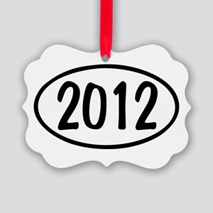 2012 Oval Picture Ornament
