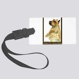 Red AustralianTerrierBeg Large Luggage Tag