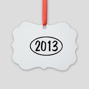 2013 Oval Picture Ornament