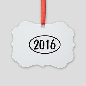 2016 Oval Picture Ornament