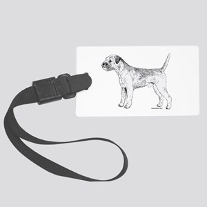 Border Terrier Large Luggage Tag
