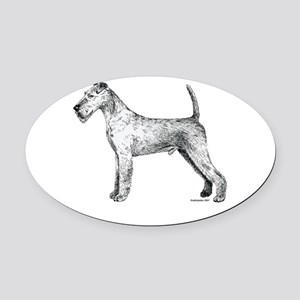 Irish_Terrier Oval Car Magnet