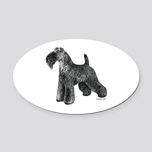 Kerry_Blue_Terrier002 Oval Car Magnet