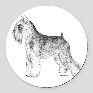 Miniature_Schnauser_Terrier020 Round Car Magne