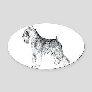 Miniature_Schnauser_Terrier020 Oval Car Magnet