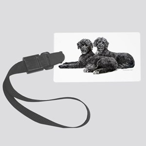Portuguese Water Dogs Large Luggage Tag