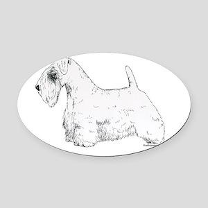 Sealyham_Terrier Oval Car Magnet