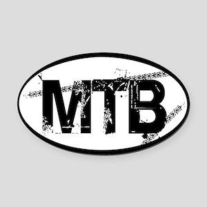 MTB Oval Oval Car Magnet