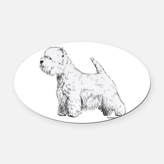 westie_Terrier019.png Oval Car Magnet