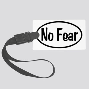 No Fear Oval Large Luggage Tag