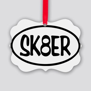SK8ER Oval Picture Ornament
