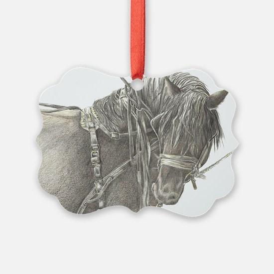 draft horse.jpg Ornament