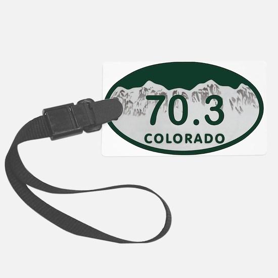 70.3 Colo License Plate Luggage Tag