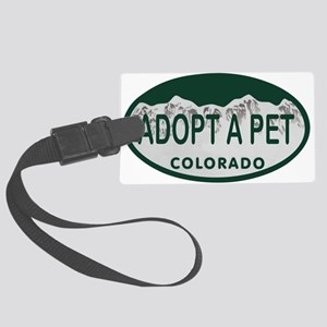 Adopt a Pet Colo License Plate Large Luggage Tag