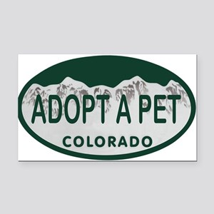 Adopt a Pet Colo License Plate Rectangle Car Magne