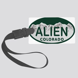 Alien Colo License Plate Large Luggage Tag