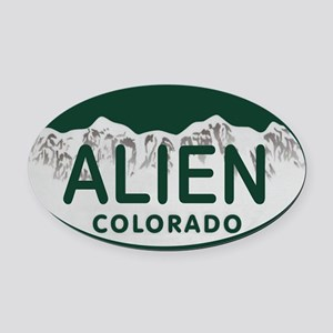 Alien Colo License Plate Oval Car Magnet