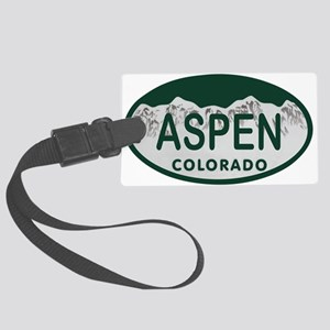 Aspen Colo License Plate Large Luggage Tag