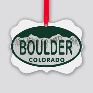Boulder Colo License Plate Picture Ornament