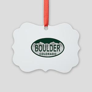 Boulder Colo License Plate Picture Ornament
