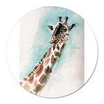 giraffe.jpg Round Car Magnet