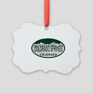 Colorado Springs Colo License Plate Picture Orname