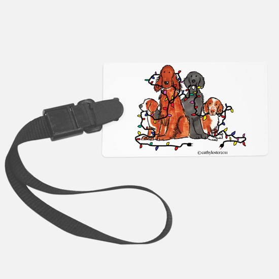 dogchristmasparty.png Large Luggage Tag