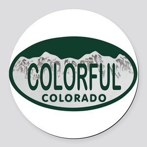Colorful Colo License Plate Round Car Magnet