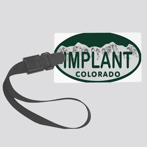 Implant Colo License Plate Large Luggage Tag
