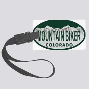 Mountan Biker Colo License Plate Large Luggage Tag
