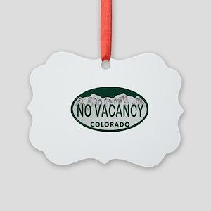No Vacancy Colo License Plate Picture Ornament