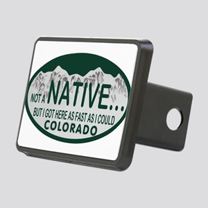Not a Native Colo License Plate Rectangular Hitch
