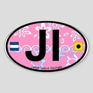 Jekyll Island GA - Oval Design. Sticker (Oval)