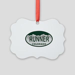 Runner Colo License Plate Picture Ornament