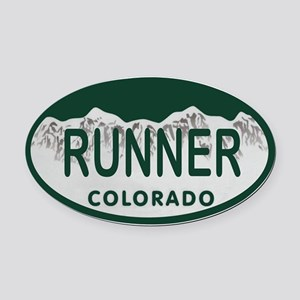 Runner Colo License Plate Oval Car Magnet