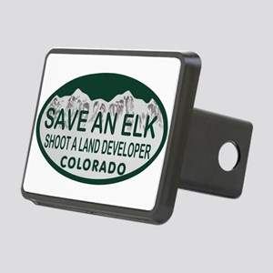 Save an Elk Colo License Plate Rectangular Hitch C