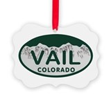 Vail colorado Picture Frame Ornaments