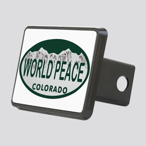 World Peace Colo License Plate Rectangular Hitch C
