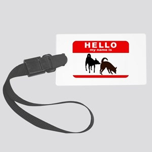 Hello My Name Is Large Luggage Tag