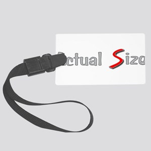 Actual Size Large Luggage Tag