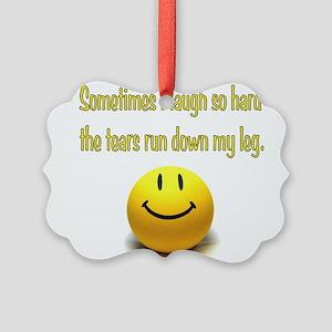 Laugh Hard Picture Ornament