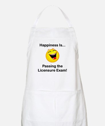 Happiness is Licensure BBQ Apron