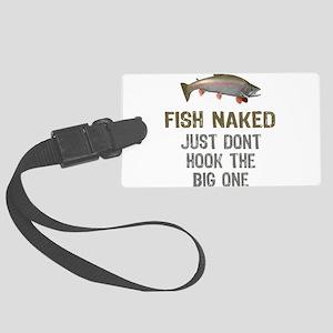 Fish Naked Large Luggage Tag