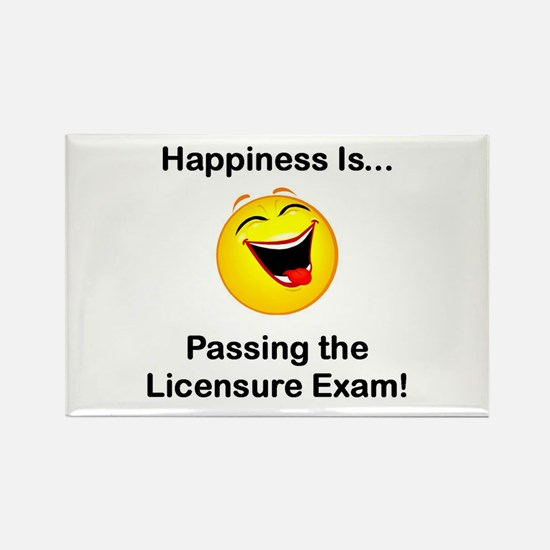 Happiness is Licensure Rectangle Magnet