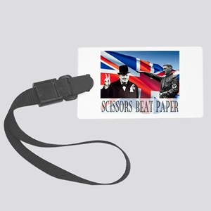 Scissors Beat Paper Large Luggage Tag