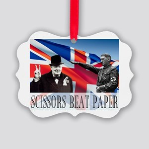 Scissors Beat Paper Picture Ornament