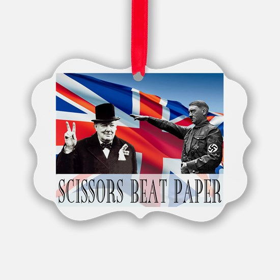 Scissors Beat Paper Ornament