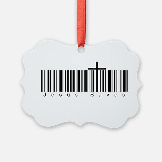 Bar Code Jesus Saves Ornament